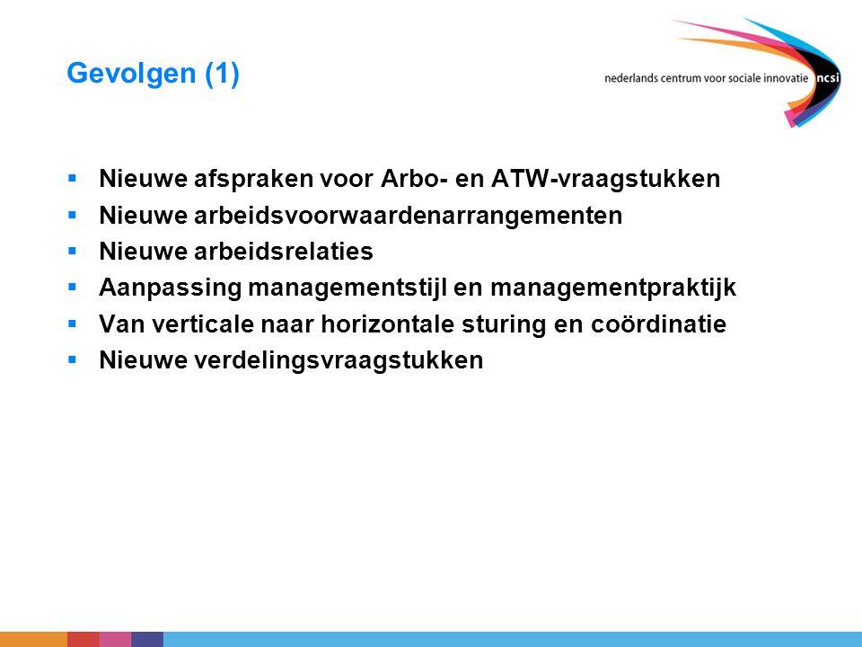 Gevolgen (1) Nieuwe afspraken voor Arbo- en ATW-vraagstukken