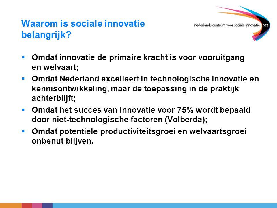 Waarom is sociale innovatie belangrijk