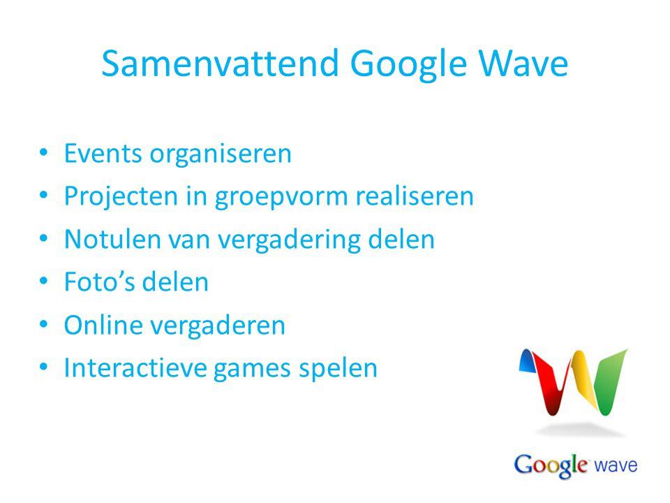 Samenvattend Google Wave