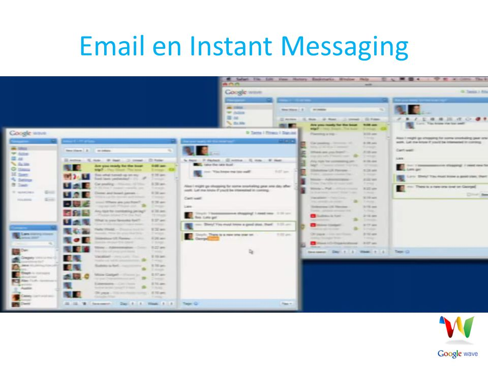 Email en Instant Messaging