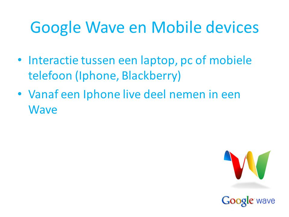 Google Wave en Mobile devices