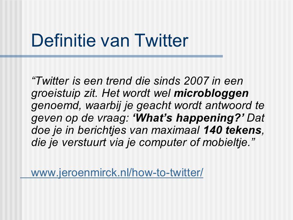 Definitie van Twitter