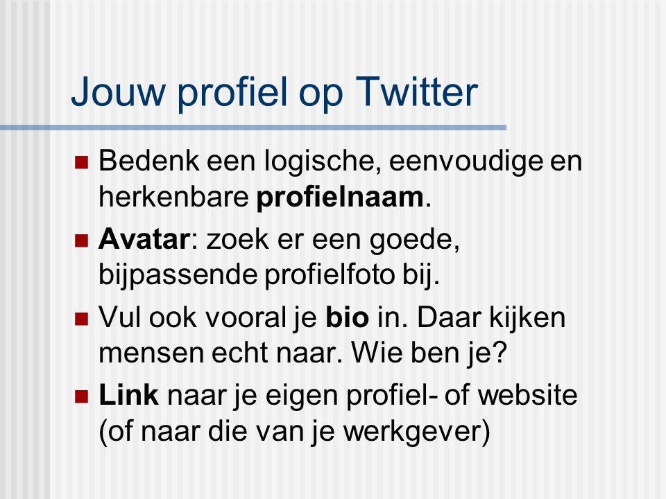 Jouw profiel op Twitter