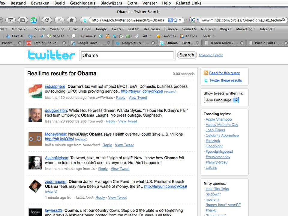 Twitter Search: Obama