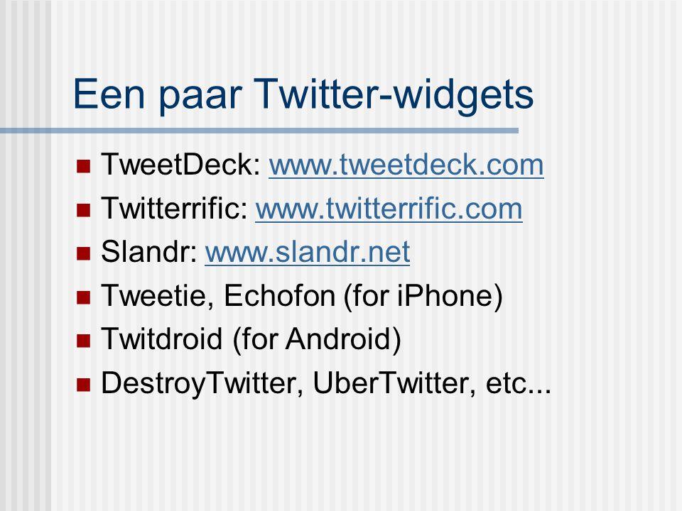 Een paar Twitter-widgets