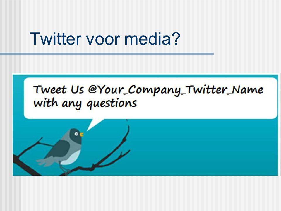 Twitter voor media