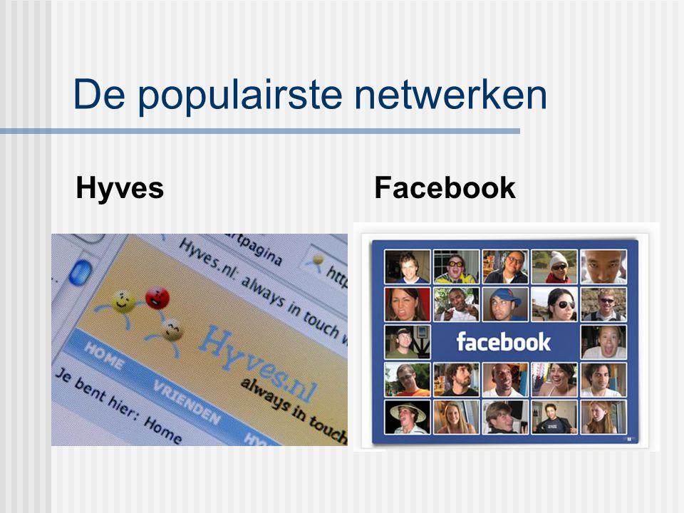 De populairste netwerken
