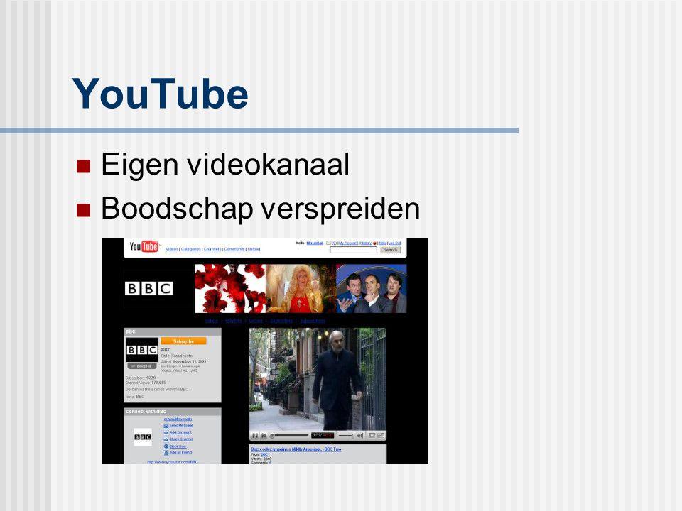 YouTube Eigen videokanaal Boodschap verspreiden