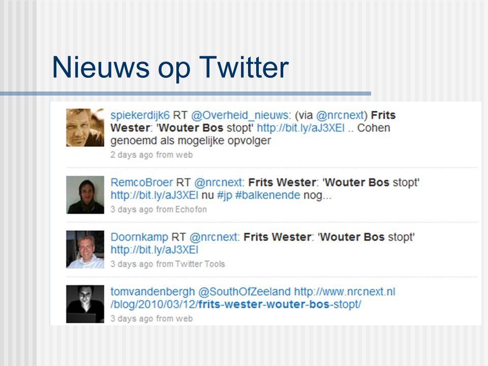 Nieuws op Twitter