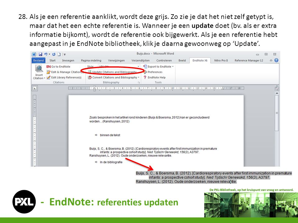 - EndNote: referenties updaten