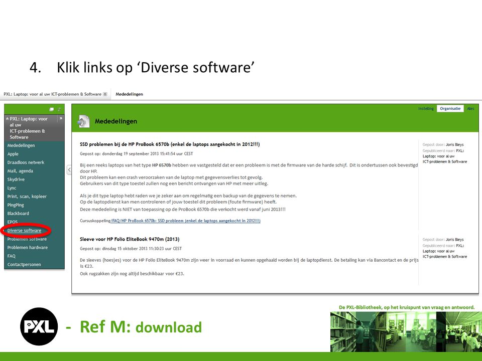 Klik links op 'Diverse software'