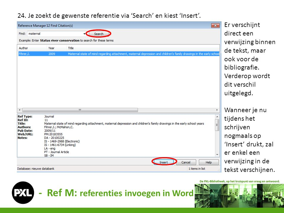 - Ref M: referenties invoegen in Word