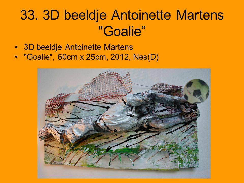 33. 3D beeldje Antoinette Martens Goalie