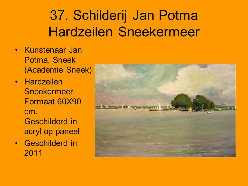 37. Schilderij Jan Potma Hardzeilen Sneekermeer
