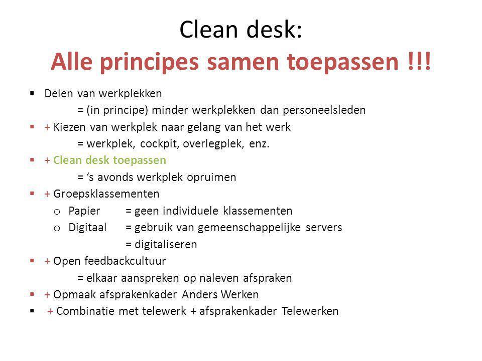 Clean desk: Alle principes samen toepassen !!!