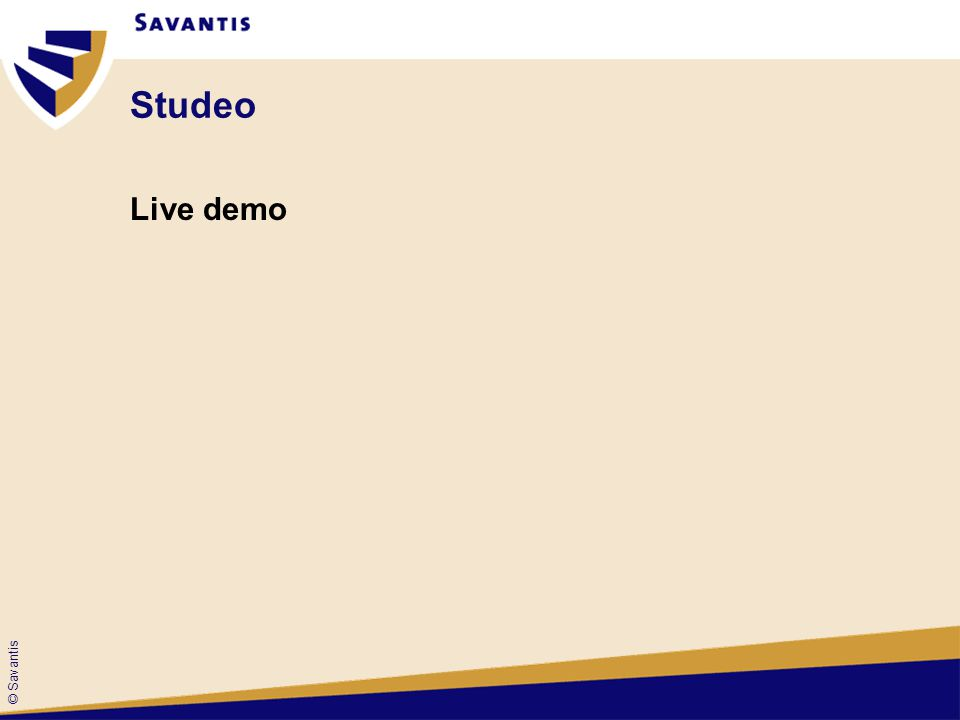Studeo Live demo