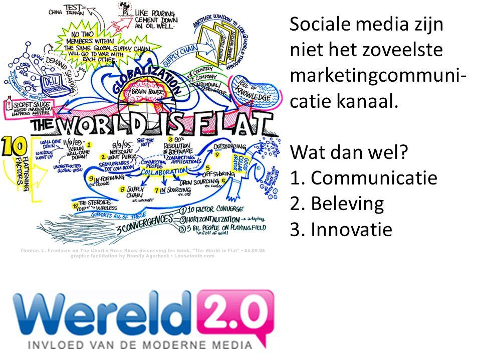 Sociale media zijn niet het zoveelste marketingcommuni-catie kanaal.