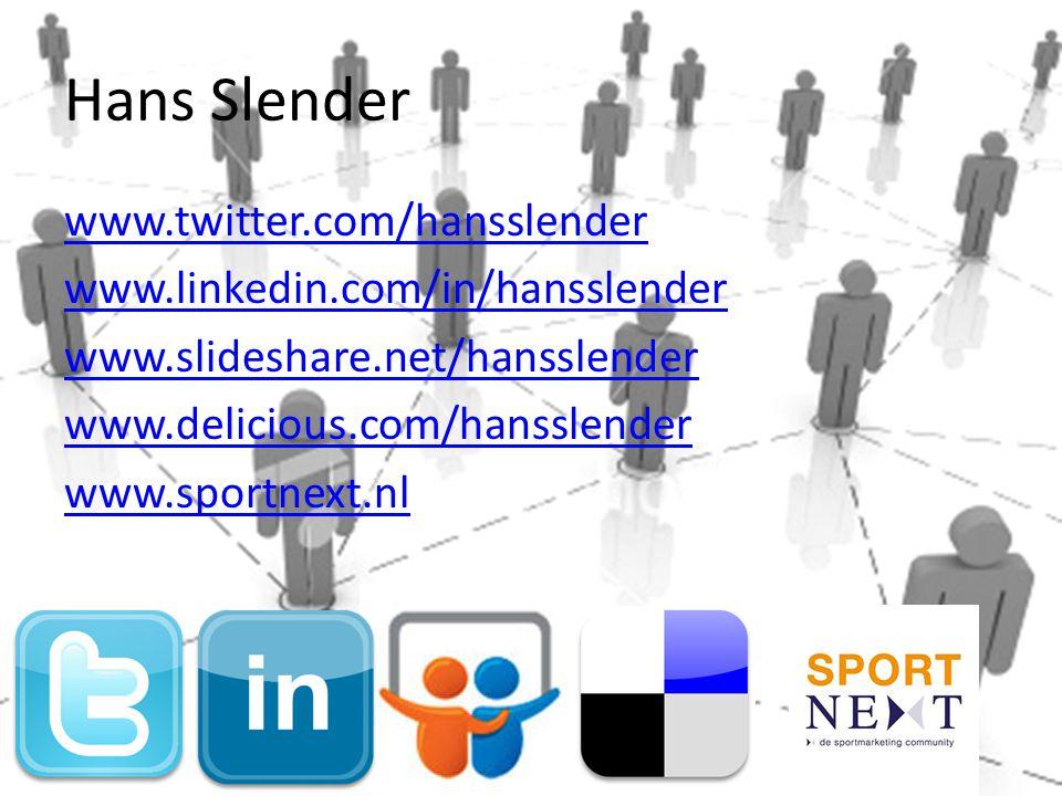 Hans Slender www.twitter.com/hansslender
