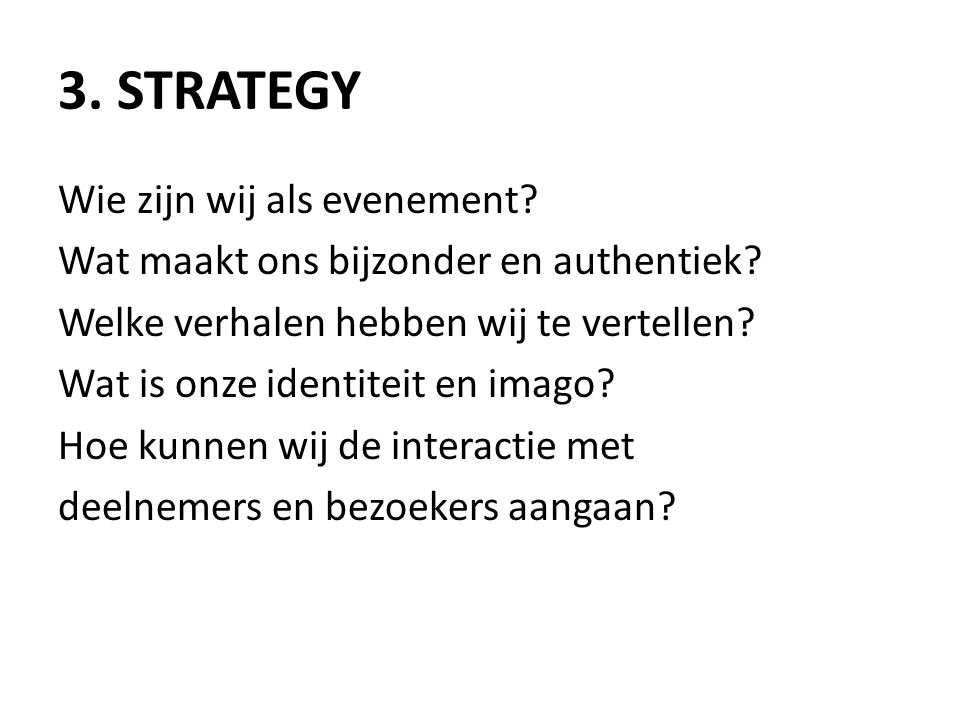3. Strategy
