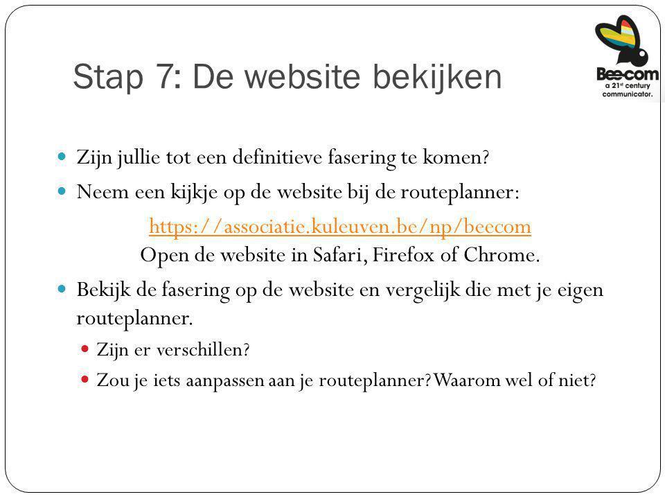 Stap 7: De website bekijken