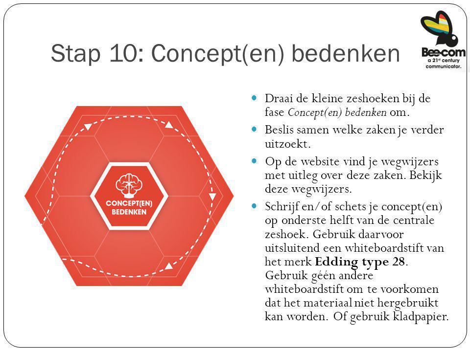 Stap 10: Concept(en) bedenken