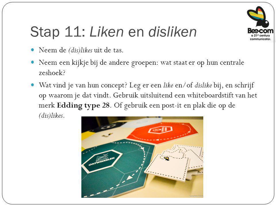 Stap 11: Liken en disliken