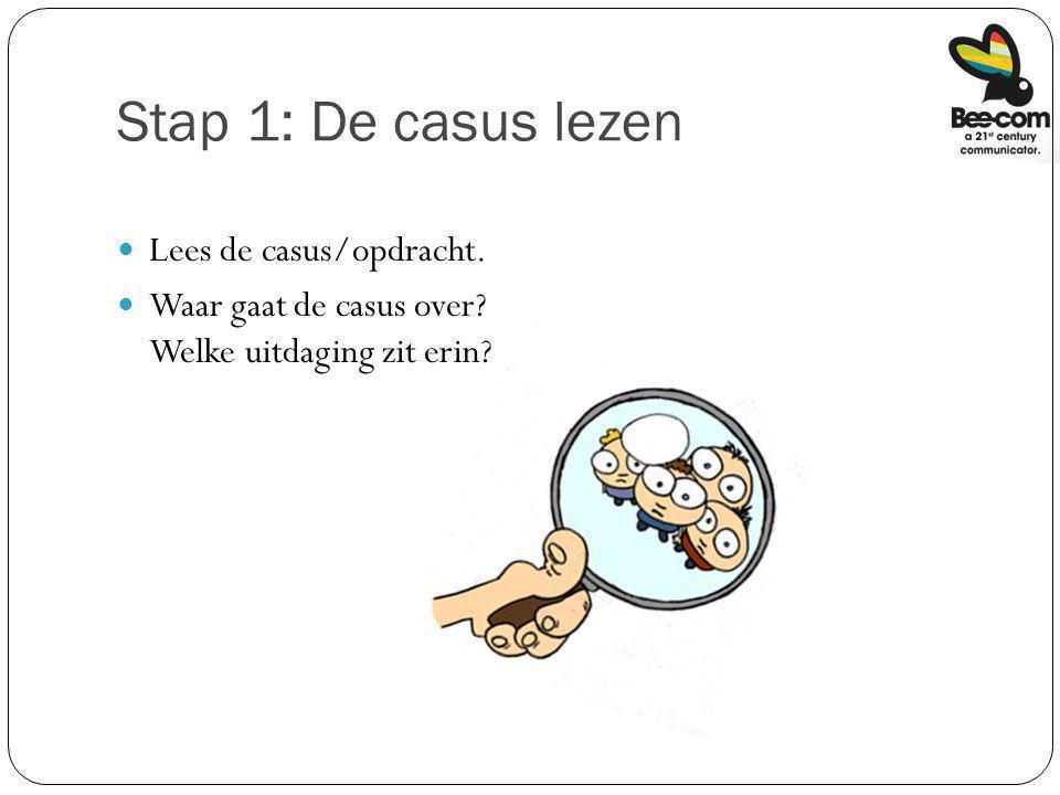 Stap 1: De casus lezen Lees de casus/opdracht.