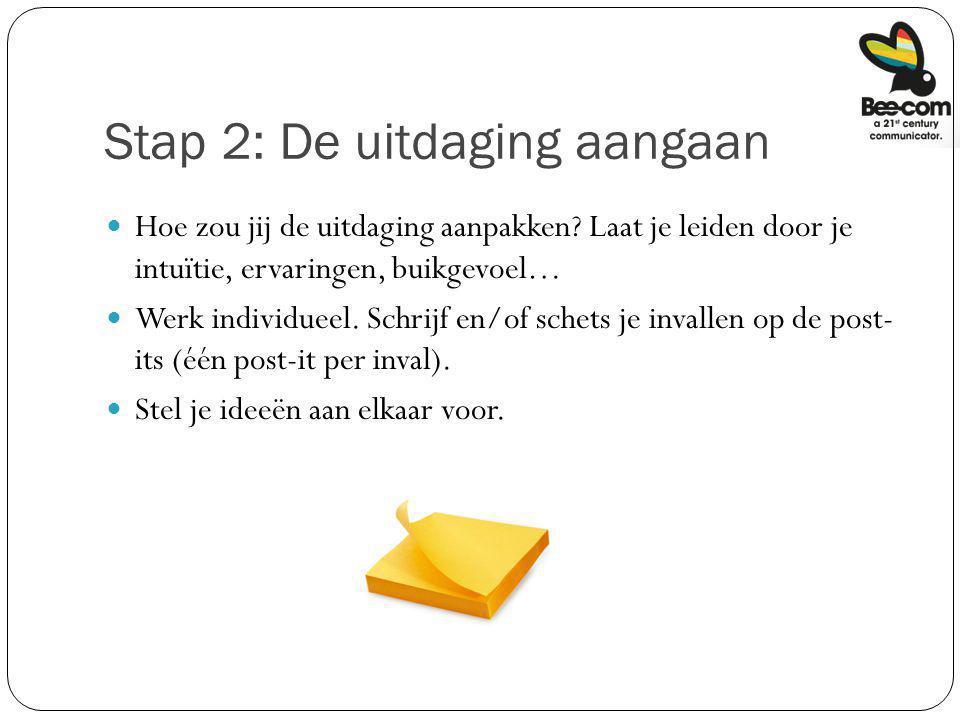 Stap 2: De uitdaging aangaan