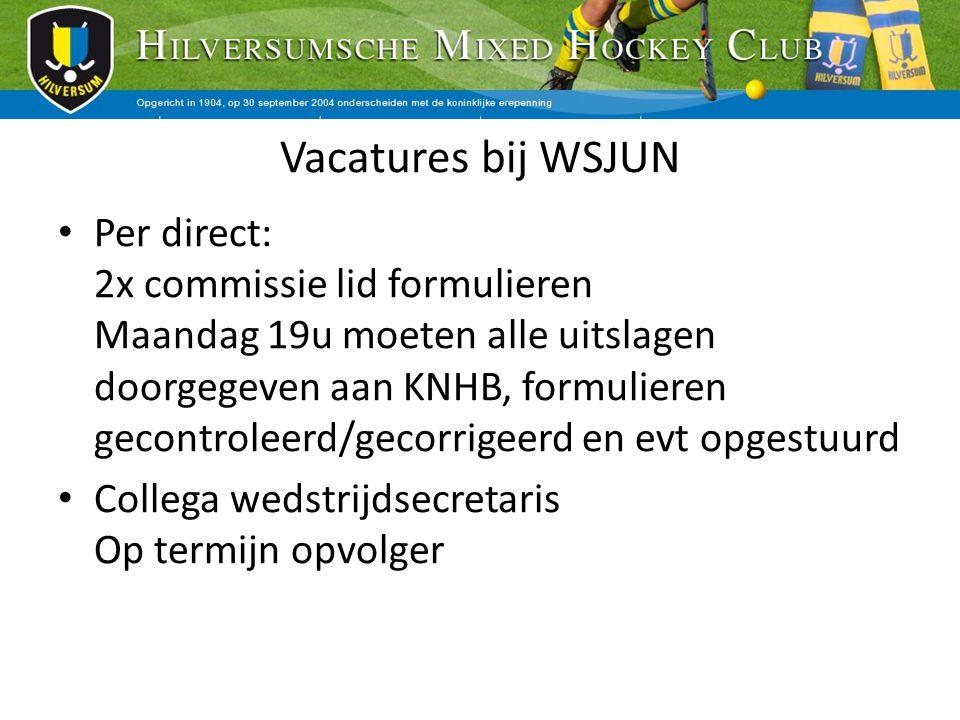 Vacatures bij WSJUN