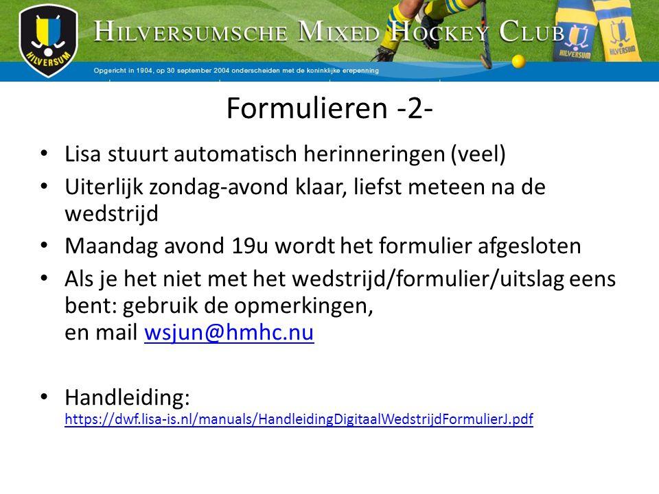 Formulieren -2- Lisa stuurt automatisch herinneringen (veel)