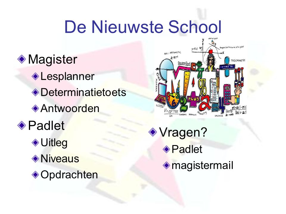 De Nieuwste School Magister Padlet Vragen Lesplanner