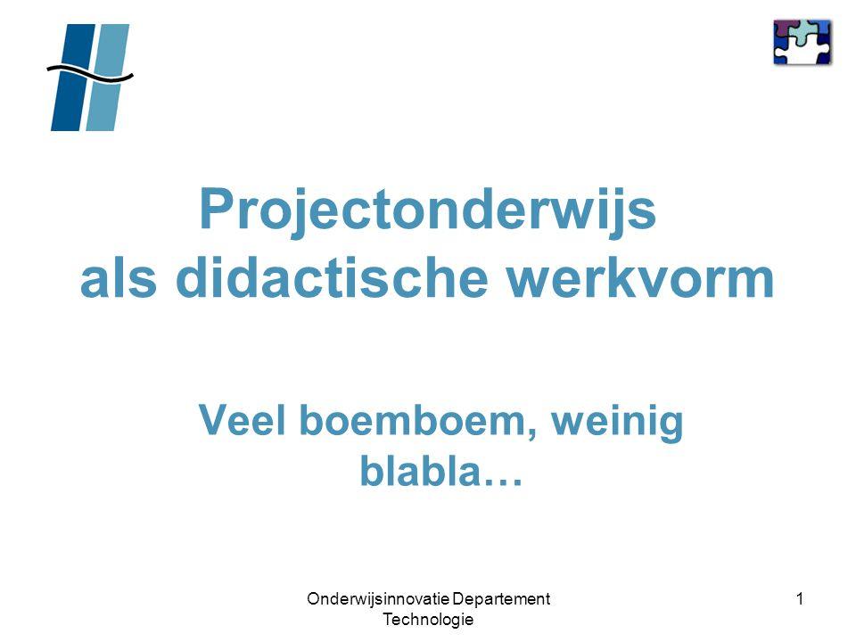 Projectonderwijs als didactische werkvorm