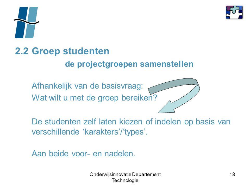 Onderwijsinnovatie Departement Technologie