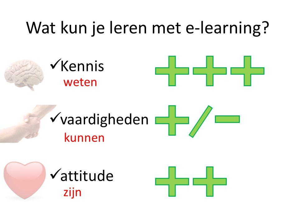 Wat kun je leren met e-learning