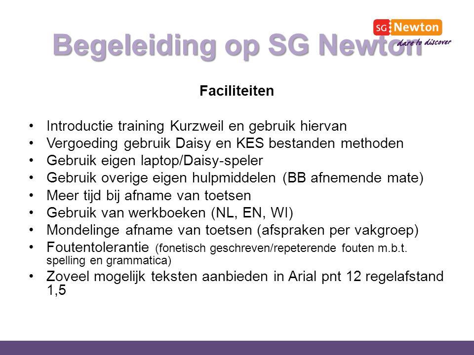 Begeleiding op SG Newton