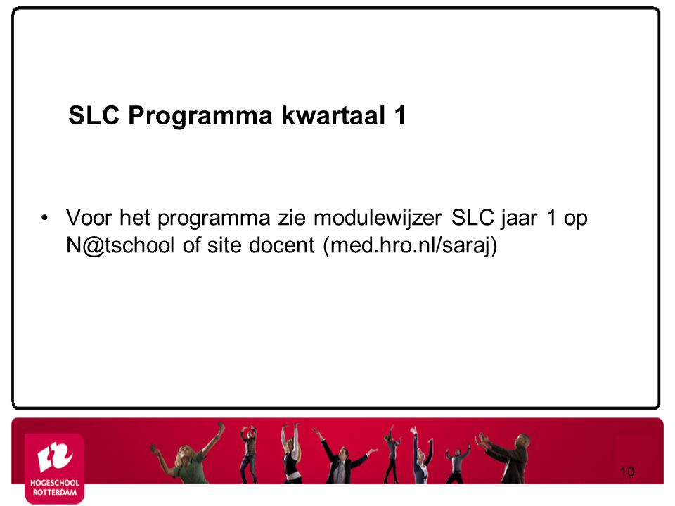 SLC Programma kwartaal 1