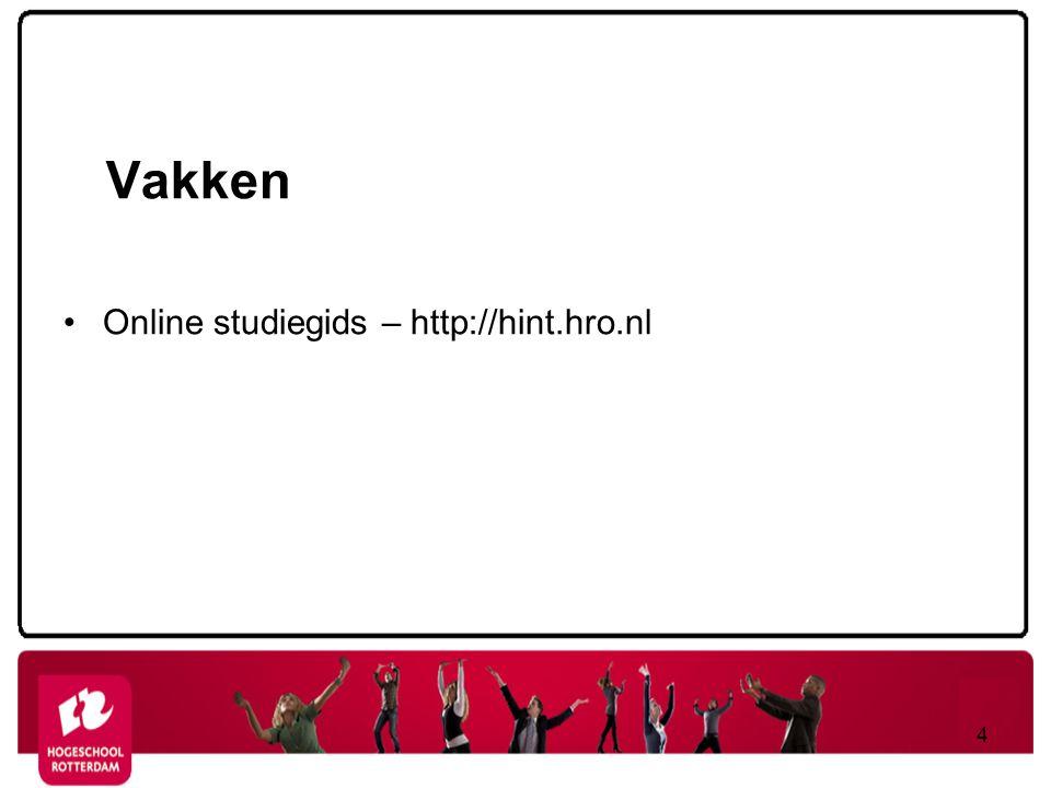 Vakken Online studiegids – http://hint.hro.nl