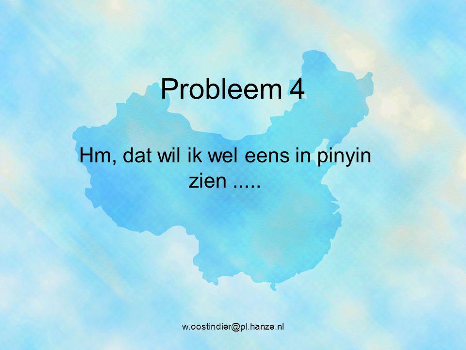 Hm, dat wil ik wel eens in pinyin zien .....