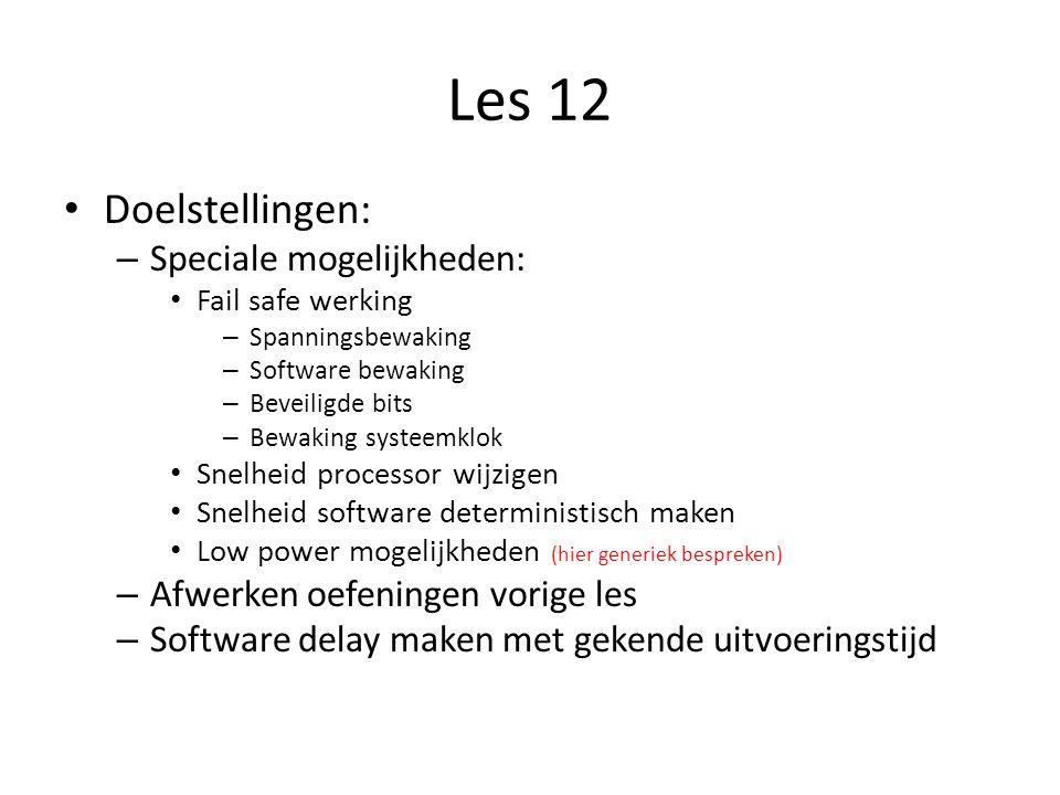 Les 12 Doelstellingen: Speciale mogelijkheden: