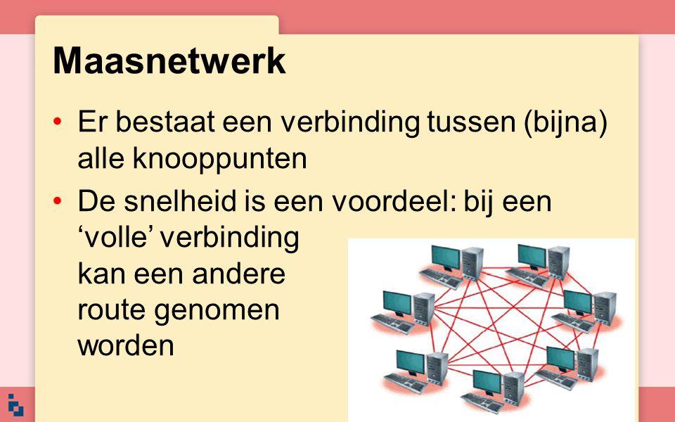 Maasnetwerk Er bestaat een verbinding tussen (bijna) alle knooppunten