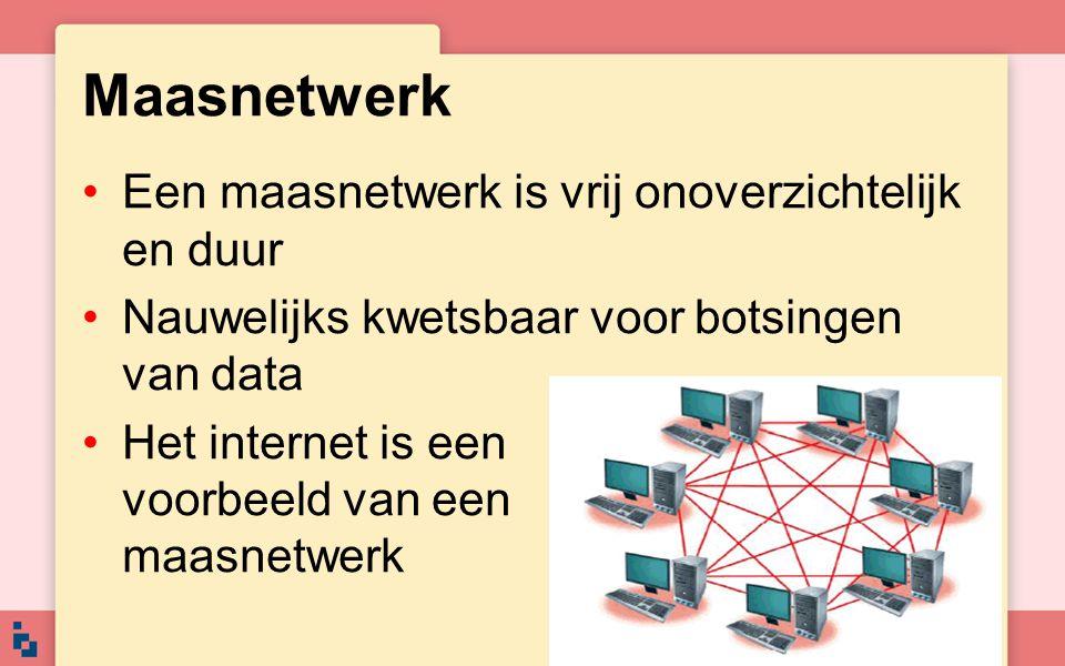 Maasnetwerk Een maasnetwerk is vrij onoverzichtelijk en duur