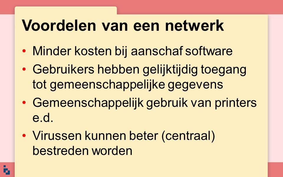 Voordelen van een netwerk