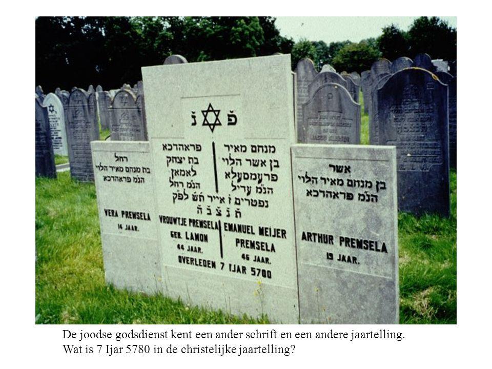 De joodse godsdienst kent een ander schrift en een andere jaartelling