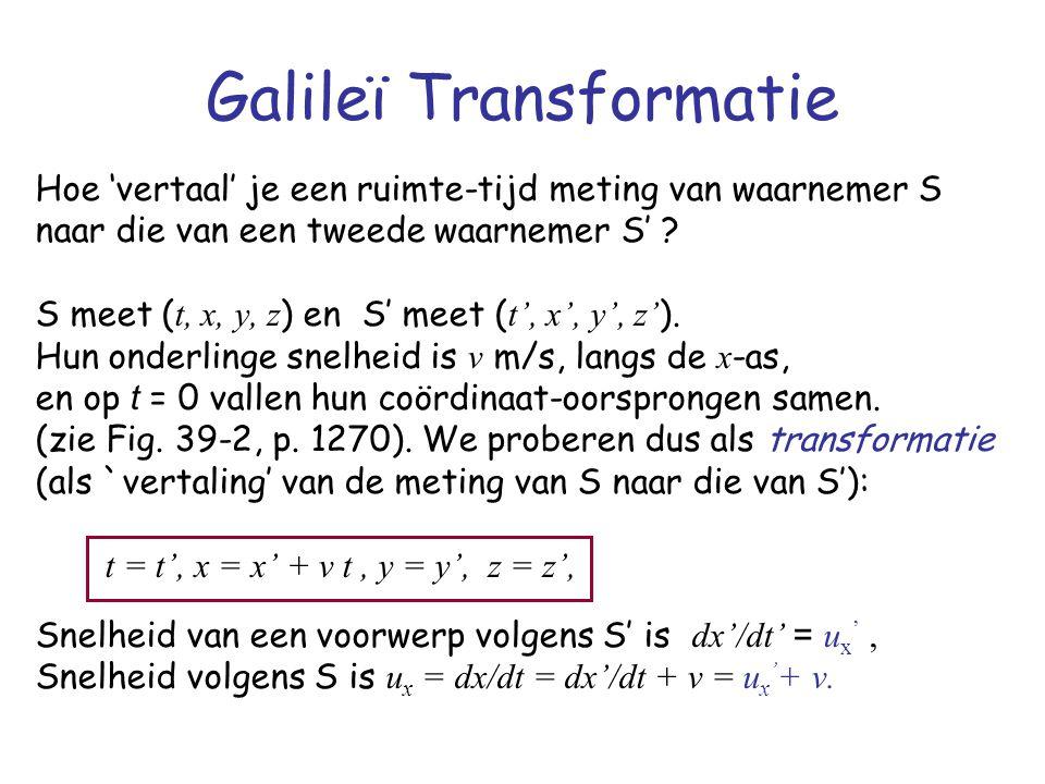 Galileï Transformatie