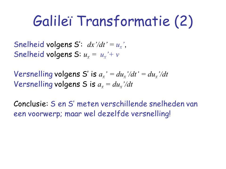 Galileï Transformatie (2)