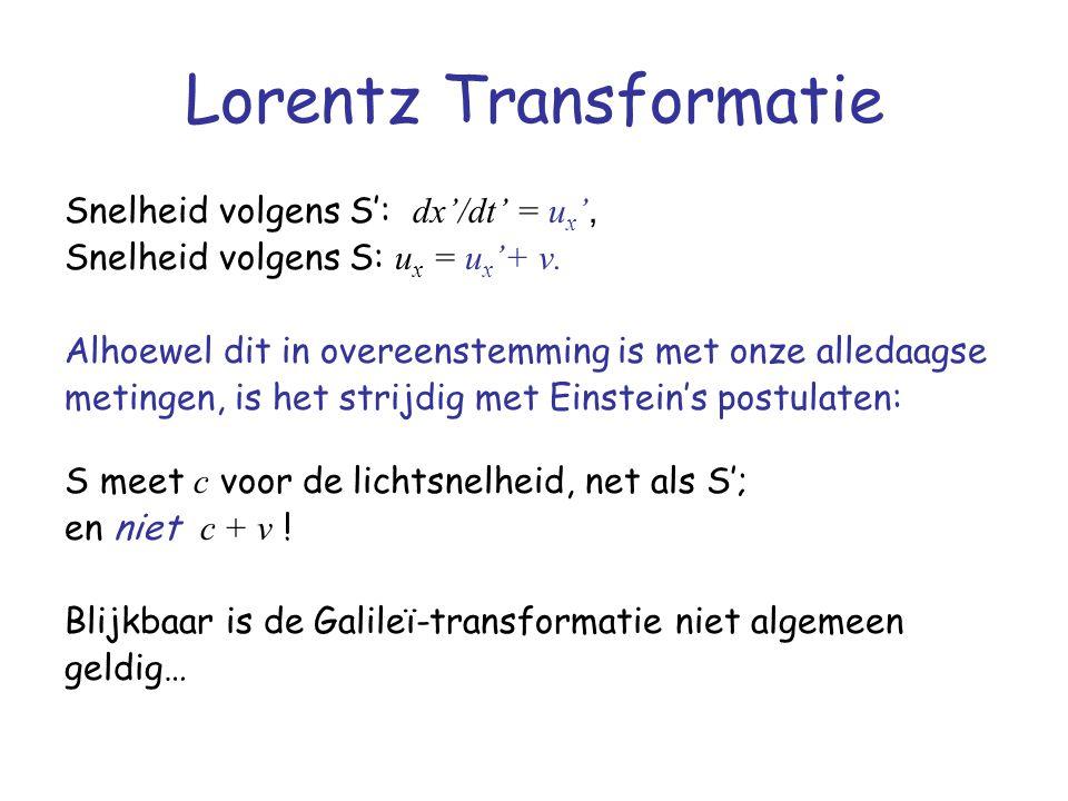 Lorentz Transformatie