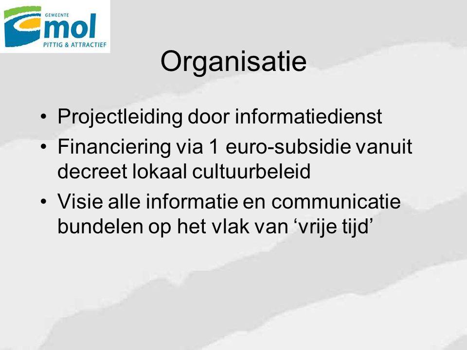 Organisatie Projectleiding door informatiedienst