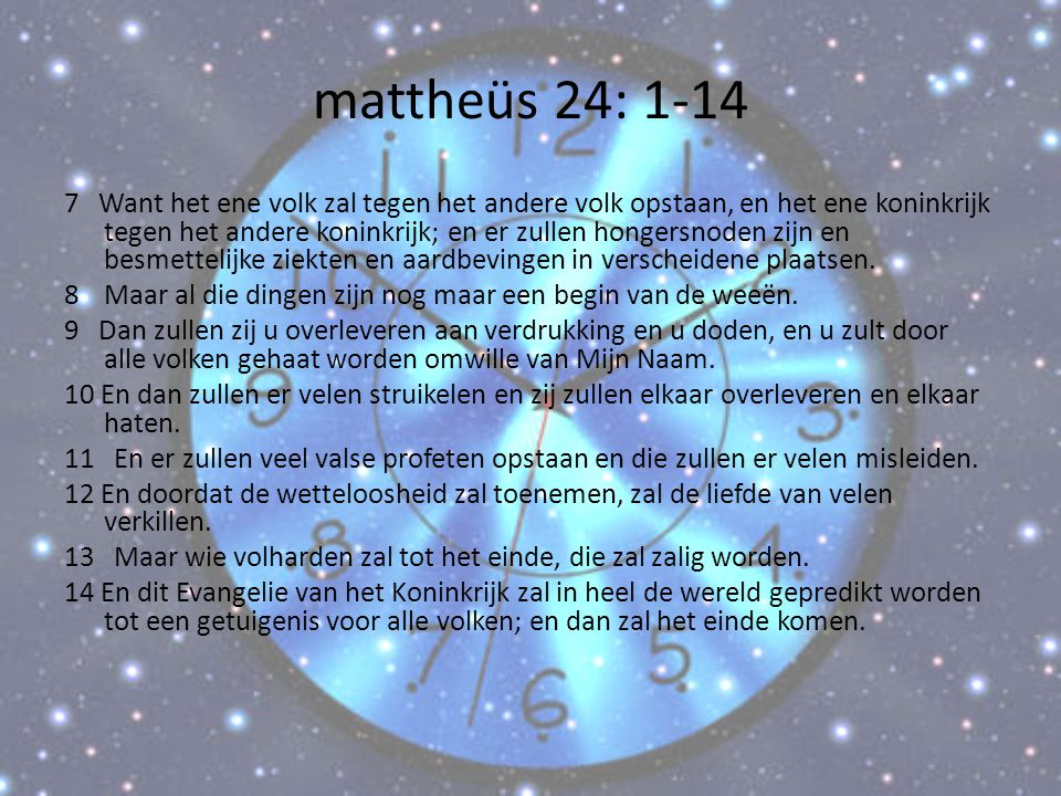 mattheüs 24: 1-14