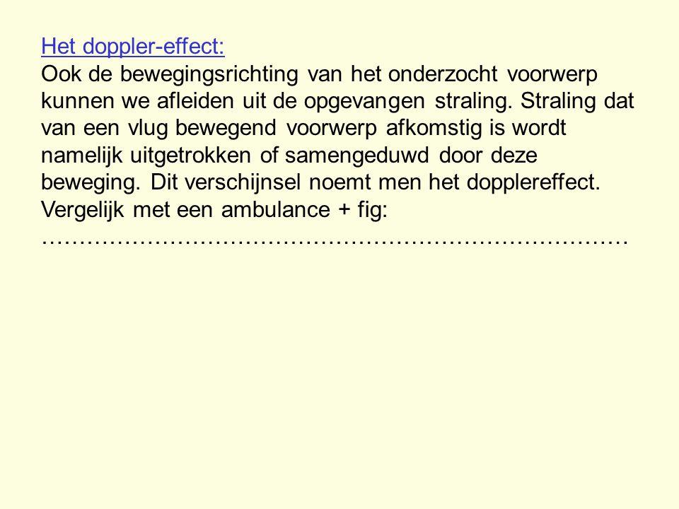 Het doppler-effect: