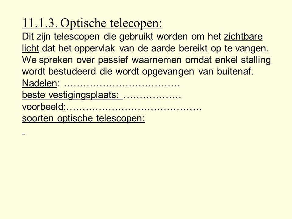 11.1.3. Optische telecopen: